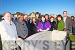 Pictured at the unveiling of a marble bench in memory of Frank Fitzgibbon overlooking the canal at Blennerville on Saturday were Ronnie Fitzgibbon, Mary Fitzgibbon, Noel Fitzgibbon, Pat Fitzgibbon.Alan Fitzgibbon, Caroline Fitzgibbon, Gary Marcham, Noreen Landers.Helen fitzgibbon, Francis Fitzgibbon.