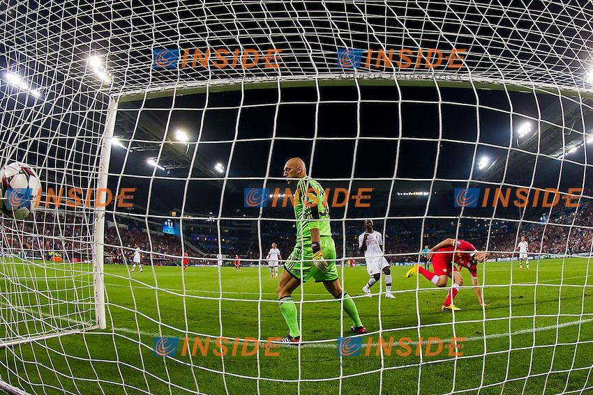 Gol Matavz (R) Christian Abbiati (L),  Cristian Zapata (C)<br /> EINDHOVEN 20/8/2013 Philips stadion <br /> Football Calcio 2013/2014 <br /> Preliminari Champions League <br /> Psv Eindhoven Milan <br /> Foto Joep Leenen Pro Shots Insidefoto