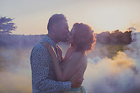 A DIY Cornish Wedding With Smoke Bombs
