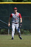 Indiana Hoosiers right fielder Logan Sowers (51) during practice before a game against the Illinois State Redbirds on March 4, 2016 at North Charlotte Regional Park in Port Charlotte, Florida.  Indiana defeated Illinois State 14-1.  (Mike Janes/Four Seam Images)