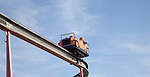 Monorail ride at Pleasure Beach funfair, Great Yarmouth, Norfolk, England