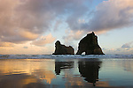 Archway Islands at sunrise, New Zealand, South Island