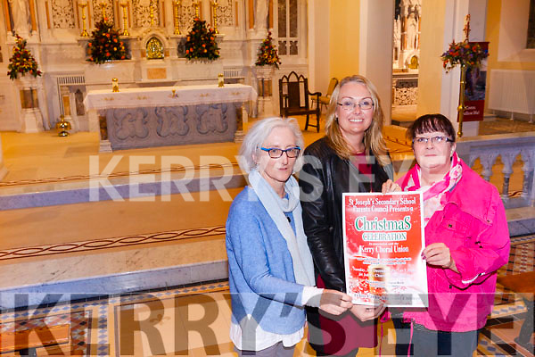 Linda Lynch, Kathleen Wall Sheehy and Marie Rohan getting ready for the annual Choral Night taking place in St Johns Church Ballybunion Sunday December 3rd.
