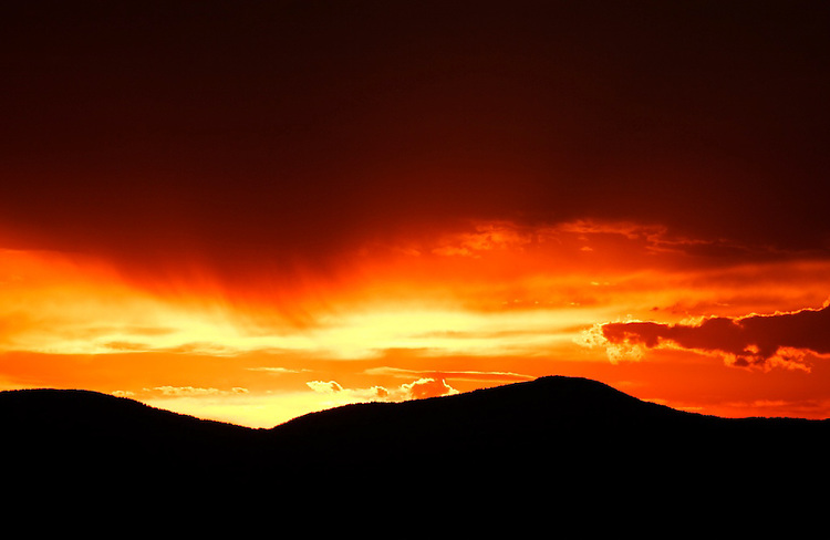 Santa Fe, New Mexico sunset.