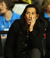 Magic coach Noeline Taurua during the ANZ Netball Championship match between the Waikato Bay of Plenty Magic and Adelaide Thunderbirds, Mystery Creek Events Centre, Hamilton, New Zealand on Sunday 19 July 2009. Photo: Dave Lintott / lintottphoto.co.nz