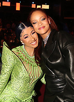 LOS ANGELES, CA - JUNE 23: Cardi B and Rihanna at the 2019 BET Awards Show at the Microsoft Theater in Los Angeles on June 23, 2019. Credit: Walik Goshorn/MediaPunch