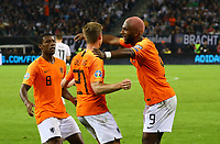 celebrate the goal, Torjubel zum 1:1 Ausgleich Frenkie de Jong (Niederlande) mit Ryan Babel (Niederlande)- 06.09.2019: Deutschland vs. Niederlande, Volksparkstadion Hamburg, EM-Qualifikation DISCLAIMER: DFB regulations prohibit any use of photographs as image sequences and/or quasi-video.