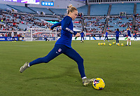, FL - : Emily Sonnett #14 of the United States warms up during a game between  at  on ,  in , Florida.