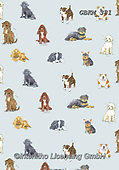 Kate, GIFT WRAPS, GESCHENKPAPIER, PAPEL DE REGALO, paintings+++++New Breeds Dogs repeat,GBKM381,#gp#, EVERYDAY