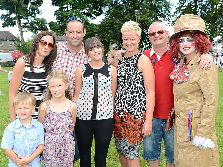 Lorna, Nigel, Aaron and Hannah McEvily, Maria, Martin, Patricia and Rebecca Bannon pictured at the Ardee festival. Photo:Colin Bell/pressphotos.ie