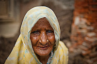 A manual scavenger poses for a photograph in the village of Chandoi in Islamnagar.
