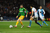 Preston North End's Alan Browne under pressure from Blackburn Rovers' Lewis Travis<br /> <br /> Photographer Kevin Barnes/CameraSport<br /> <br /> The EFL Sky Bet Championship - Blackburn Rovers v Preston North End - Saturday 11th January 2020 - Ewood Park - Blackburn<br /> <br /> World Copyright © 2020 CameraSport. All rights reserved. 43 Linden Ave. Countesthorpe. Leicester. England. LE8 5PG - Tel: +44 (0) 116 277 4147 - admin@camerasport.com - www.camerasport.com