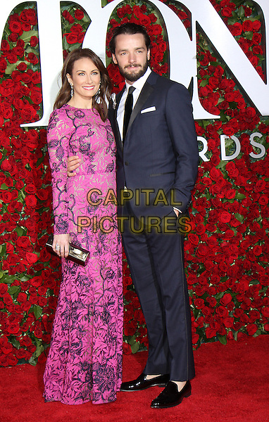 NEW YORK, NY-June 12:  Laura Benanti, Patrick Brown at the 70th Annual Tony Awards at the Beacon Theatre in New York. NY June 12, 2016. <br /> CAP/MPI/RW<br /> &copy;RW/MPI/Capital Pictures