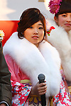 Akiho Sato, JANUARY 12, 2015 : <br /> The Tokyo Organising Committee of the Olympic and Paralympic Games (TOCOG) countdown event &quot;Everyone's Start! 2020 days to Tokyo 2020&quot; at Tokyo Metropolitan Government, Tokyo, Japan. (Photo by AFLO SPORT)