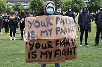 APR 06 London Black Lives Matter protest, Cambridge, UK