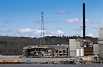 Demolition of the former Verso Paper Mill in Bucksport, Maine, USA