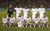 LA Galaxy starting eleven. The LA Galaxy and Chivas USA played to a 2-2 draw at Home Depot Center stadium in Carson, California on Thursday, August 14, 2008.