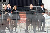 Roma, 2 Marzo 2016<br /> Doriana Mandrealli, Matteo Renzi, Massimiliano Fuksas<br /> <br /> Il Presidente del Consiglio visita il cantiere della Nuvola di Fuksas