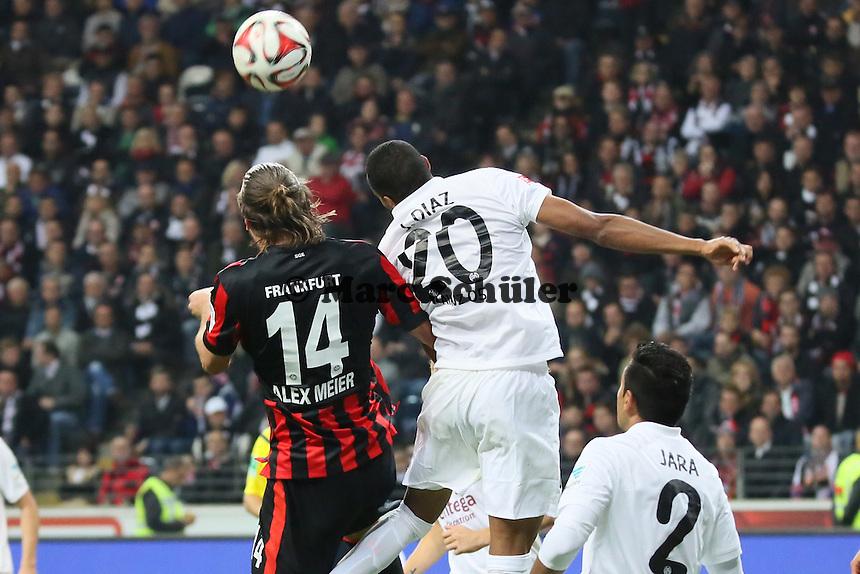 Alex Meier (EIntracht) gegen Junior Diaz (Mainz) - Eintracht Frankfurt vs. 1. FSV Mainz 05, Commerzbank Arena