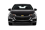 Car photography straight front view of a 2017 Chevrolet Cruze LT-Auto 4 Door Sedan Front View