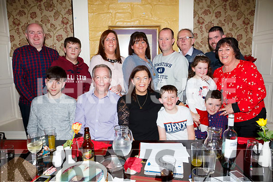 Birthday girl Karen White seated front centre enjoying her birthday celebrations in the Brogue Inn with her family and friends on Saturday night last. Seated L-r, Padraig White, Patrick White, Karen White, Gearoid White, Amy O'Connor and Dara O'Connor. Back l-r, Noel O'Connor, Ciaran White, Joanne O'Connor, Denise Long, Tommy, Maxie, Anthony and Joan McDonald.