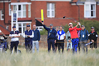 Alex Smalley (USA) on the 17th tee during Day 2 Singles at the Walker Cup, Royal Liverpool Golf CLub, Hoylake, Cheshire, England. 08/09/2019.<br /> Picture Thos Caffrey / Golffile.ie<br /> <br /> All photo usage must carry mandatory copyright credit (© Golffile | Thos Caffrey)