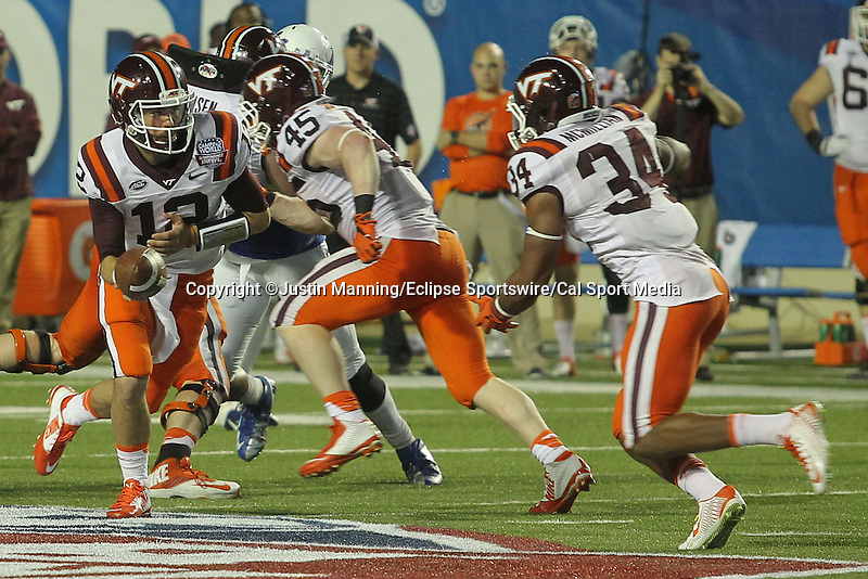 December 26, 2015: Virginia Tech QB Michael Brewer during the 2nd half of the Camping World Independence Bowl at Independence Stadium in Shreveport, LA. Justin Manning/ESW/CSM