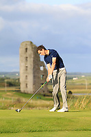 Tiernan McLarnon (Massereene) on the 13th tee during Round 2 of The South of Ireland in Lahinch Golf Club on Sunday 27th July 2014.<br /> Picture:  Thos Caffrey / www.golffile.ie