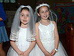 Isobel Levins and McKenzie Bradley who received first holy communion in St Michael's church Clogherhead. Photo:Colin Bell/pressphotos.ie