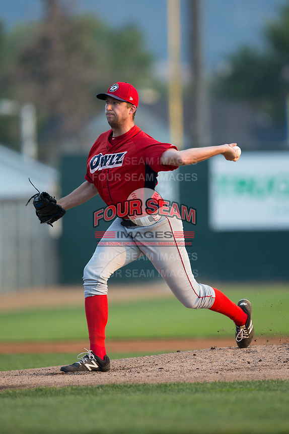 Orem Owlz starting pitcher James Ziemba (39) in action against the Helena Brewers at Kindrick Legion Field on August 17, 2017 in Helena, Montana.  The Owlz defeated the Brewers 5-2.  (Brian Westerholt/Four Seam Images)