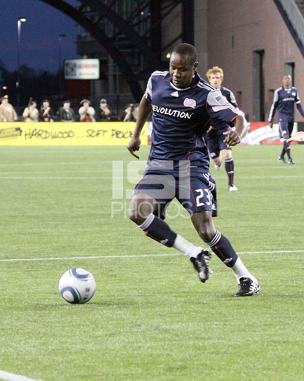 New England Revolution midfielder Joseph Niouky (23).  The Colorado Rapids defeated the New England Revolution, 2-1, at Gillette Stadium on April 24.2010