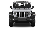 Car photography straight front view of a 2020 JEEP Gladiator Sport-S 4 Door Pick-up Front View