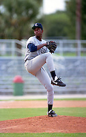 Ft. Lauderdale Yankees pitcher Brien Taylor (19) during the 1992 Florida State League season.  Taylor was selected first overall of the 1991 MLB Draft by the New York Yankees out of East Carteret High School in Beaufort, North Carolina.  (MJA/Four Seam Images)