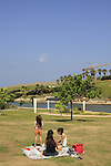 Israel, Sharon region, a picnic by Hadera River