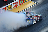 Jun. 29, 2012; Joliet, IL, USA: NHRA funny car driver Courtney Force during qualifying for the Route 66 Nationals at Route 66 Raceway. Mandatory Credit: Mark J. Rebilas-