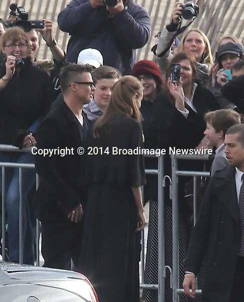 Pictured: Brad Pitt and Angelina Jolie<br /> Mandatory Credit &copy; Fernando Allende/Adriano Camolese/Broadimage<br /> Brad Pitt and Angelina Jolie signing authographs at the 2014 Independent Spirit Awards<br /> <br /> 3/1/14, Santa Monica, California, United States of America<br /> Reference: 030114_FALA_BDG_018<br /> <br /> Broadimage Newswire<br /> Los Angeles 1+  (310) 301-1027<br /> New York      1+  (646) 827-9134<br /> sales@broadimage.com<br /> http://www.broadimage.com