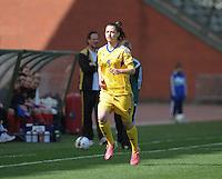 Belgium U19 - Ukraine U19 : <br /> <br /> Ukraine U19 : Valeriia Olkhovska<br /> <br /> foto Dirk Vuylsteke / Nikonpro.be
