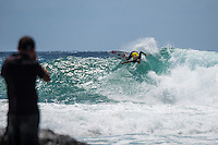 Snapper Rocks, Coolangatta, Queensland Australia. (Monday March 10, 2014) Fred Patacchia (HAW). –  The swell  was in the 3'-5' range all day from the SE. The Quiksilver Pro started at 11 am after the turn of the tide and Round 3 was completed. Photo: joliphotos.com