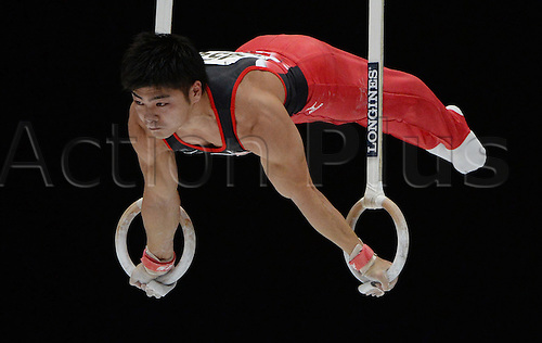 05.10.2013. Antwerp, Belgium. Koji Yamamuro of Japan competes at at the rings during the men's  Apparatus final at the Artistic Gymnastics World Championships in Antwerp, Belgium, 05 October 2013.