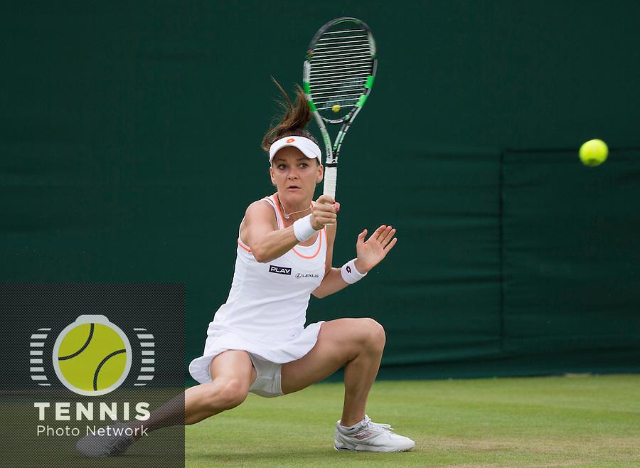 AGNIIESZKA RADWANSKA (POL)<br /> <br /> The Championships Wimbledon 2014 - The All England Lawn Tennis Club -  London - UK -  ATP - ITF - WTA-2014  - Grand Slam - Great Britain -  24th June 2014. <br /> <br /> &copy; Tennis Photo Network