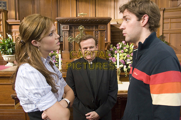 MANDY MOORE, ROBIN WILLIAMS & JOHN KRASINSKI .in License to Wed .**Editorial Use Only**.CAP/FB.Supplied by Capital Pictures