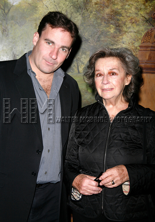 Zoe Caldwell with her son Charlie attending the Neighborhood Playhouse School of the Theatre's 80th Anniversary Gala and Reunion at Tavern On The Green Restaurant in New York City.<br />November 9, 2008