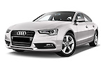 Low aggressive front three quarter view of a 2014 Audi A5 Sportback AMBIENTE 5 Door Hatchback 2WD