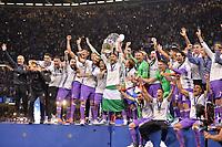 EQUIPE DE FOOTBALL DU REAL MADRID - 04 Sergio Ramos (real) - JOIE - TROPHEE<br /> Cardiff 03-06-2017  Cardiff National Stadium Millennium Stadium<br /> Football Champions League Final 2016/2017 <br /> Juventus - Real Madrid<br /> Foto Panoramic / Insidefoto