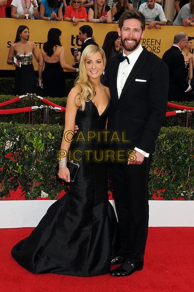 25 January 2015 - Los Angeles, California - Joanne Froggatt, James Cannon. 21st Annual Screen Actors Guild Awards - Arrivals held at The Shrine Auditorium. <br /> CAP/ADM/BP<br /> &copy;BP/ADM/Capital Pictures