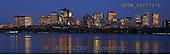 Tom Mackie, LANDSCAPES, panoramic, photos, Boston Skyline at Twilight, Massachusetts, USA, GBTM080373-1,#L#
