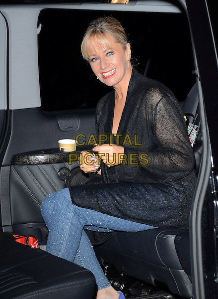 LONDON, ENGLAND - APRIL 1: Karen Barber leaves Wembley Arena after the evening show of Dancing on Ice Tour, Wembley on April 1, 2014 in London, England<br /> CAP/PP/MB<br /> &copy;Michael Ball/PP/Capital Pictures