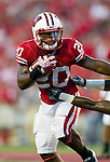 Wisconsin Badgers running back James White (20) carries the ball during an NCAA college football game against the UNLV Rebels on September 1, 2011 in Madison, Wisconsin. The Badgers won 51-17. (Photo by David Stluka)