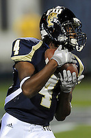 14 November 2009:  FIU wide receiver T.Y. Hilton (4) returns a kick in the first half as the FIU Golden Panthers defeated the North Texas Mean Green, 35-28, at FIU Stadium in Miami, Florida.