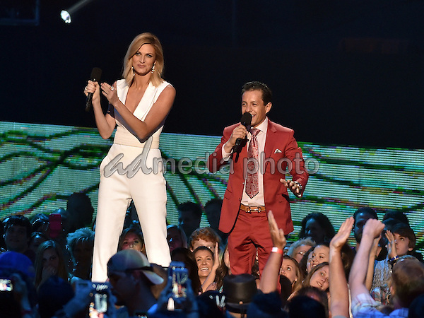 10 June 2015 - Nashville, Tennessee - Erin Andrews and Victor Espinoza. 2015 CMT Music Awards held at Bridgestone Arena. Photo Credit: Laura Farr/AdMedia